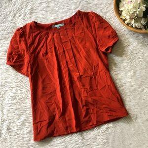 Antonio Red Silk Blouse